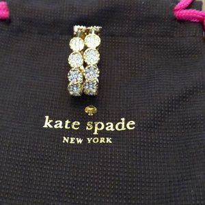 Kate Spade Gold Pave Hinge Hoop Earrings